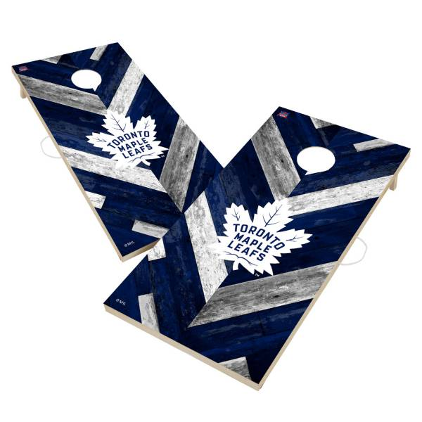 Victory Toronto Maple Leafs 2' x 4' Solid Wood Cornhole Boards product image