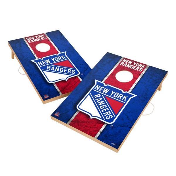 Victory New York Rangers 2' x 3' Solid Wood Cornhole Boards product image
