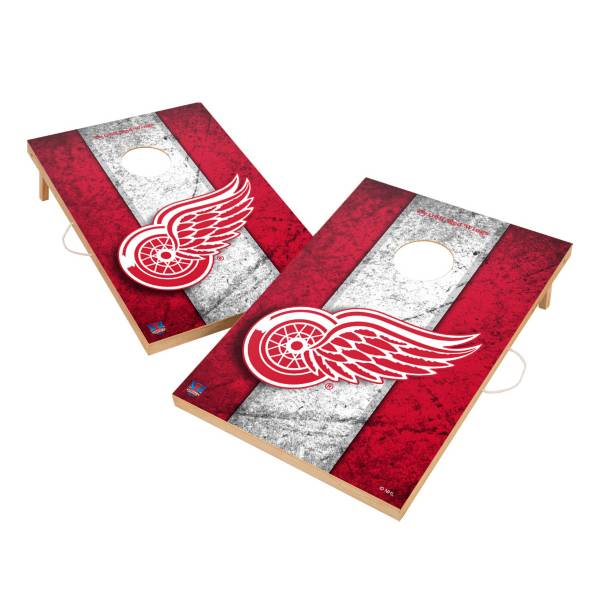 Victory Detroit Red Wings 2' x 3' Solid Wood Cornhole Boards product image