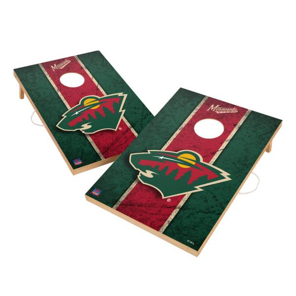 Victory Minnesota Wild 2' x 3' Solid Wood Cornhole Boards product image