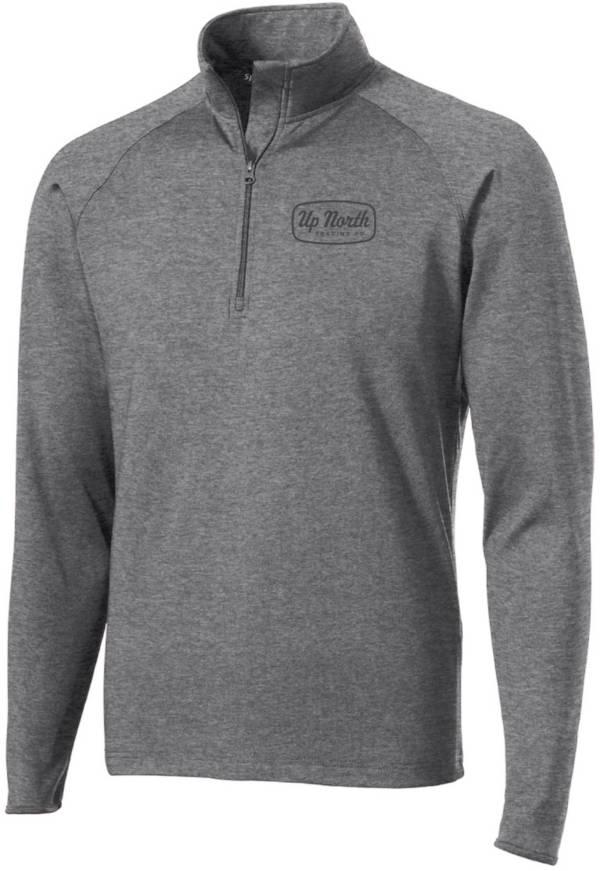 Men's Charcoal Big Stone Script Quarter Zip Pullover product image