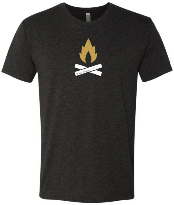 Up North Trading Company Men's Heathered Black/Gold Campfire T-Shirt product image