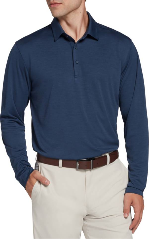 Walter Hagen Men's Heather Long Sleeve Golf Polo product image