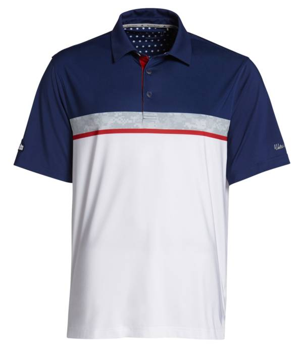Walter Hagen Perfect 11 Folds of Honor Camo Stripe Colorblock Polo product image