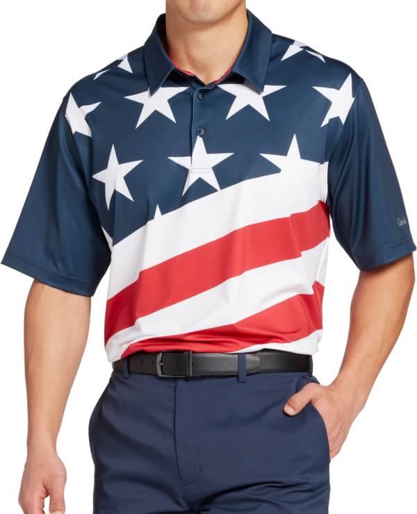 Walter Hagen Men's P11 Americana Diagonal Flag Print Golf Polo product image