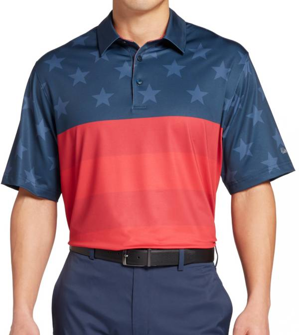 Walter Hagen Men's P11 Americana Tonal Flag Golf Polo product image