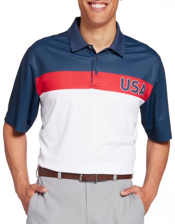 Walter Hagen Men's Perfect 11 Americana Chest Logo Golf Polo product image