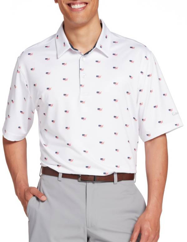 Walter Hagen Men's P11 Americana Country Print Golf Polo product image