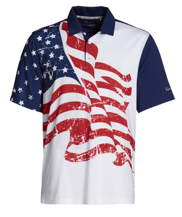 Walter Hagen Men's Perfect 11 Folds Of Honor Allover Flag Golf Polo product image