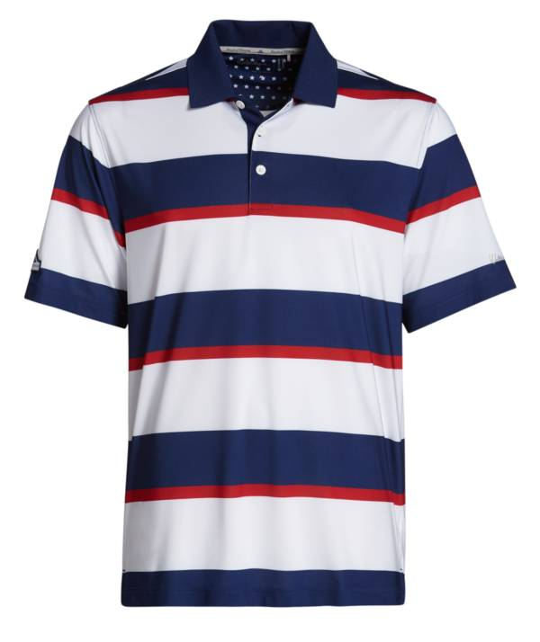 Walter Hagen Men's Perfect 11 Folds Of Honor Rugby Stripe Golf Polo product image