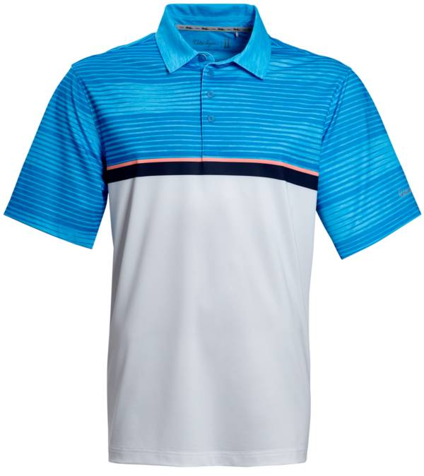 Walter Hagen Men's Perfect 11 Striped Colorblock Golf Polo product image