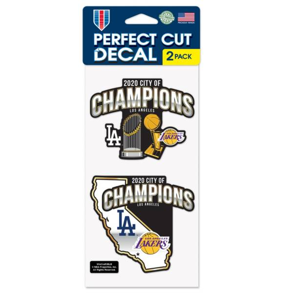 Wincraft Los Angeles Dodgers x Los Angeles Lakers 2020 City Champs 2pk Decal Sheet product image