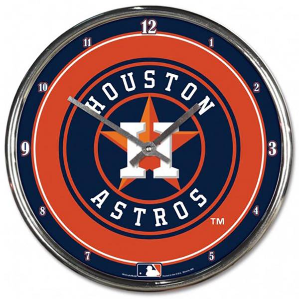 WinCraft Houston Astros Chrome Clock product image