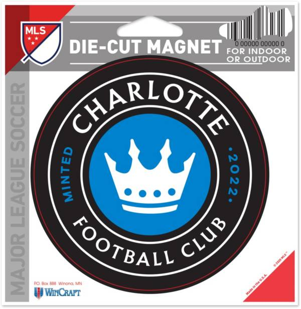 WinCraft Charlotte FC Die-Cut Magnet product image