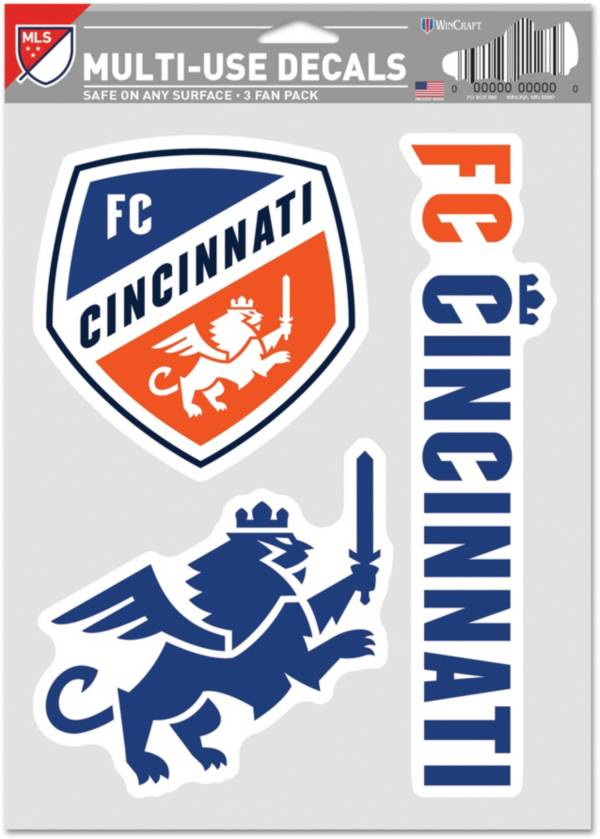 WinCraft FC Cincinnati Decal Sheet product image