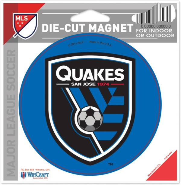 WinCraft San Jose Earthquakes Die-Cut Magnet product image