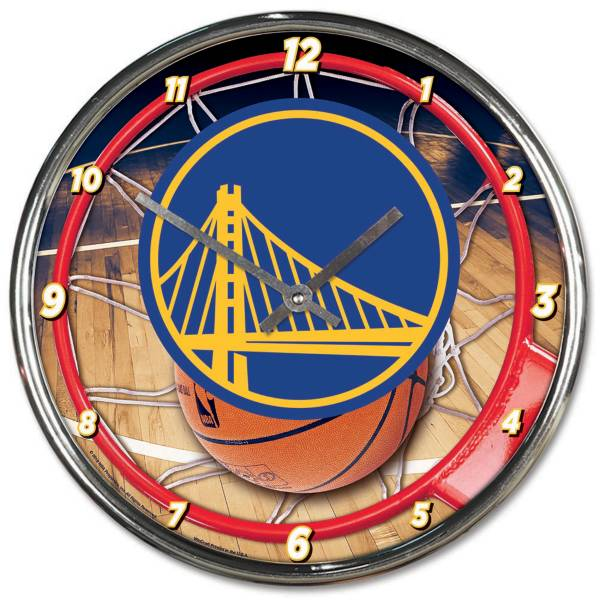 WinCraft Golden State Warriors Chrome Clock product image