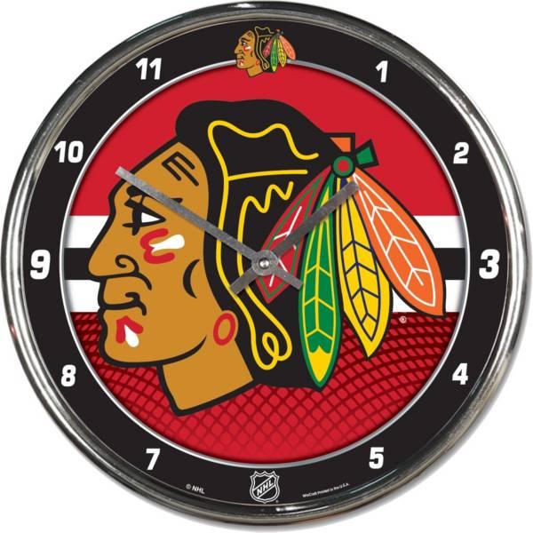 WinCraft Chicago Blackhawks Chrome Clock product image