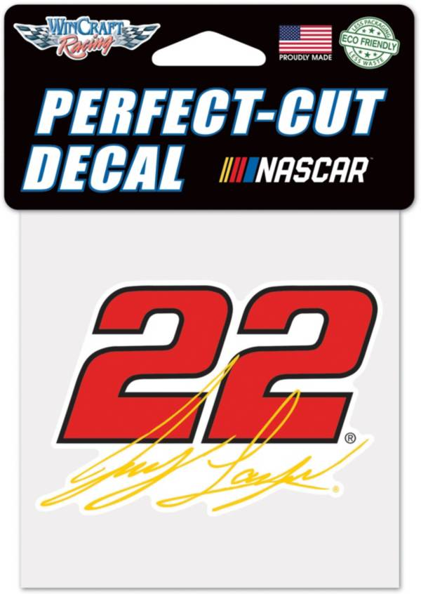 """WinCraft Joey Logano #22 4"""" x 4"""" Decal product image"""
