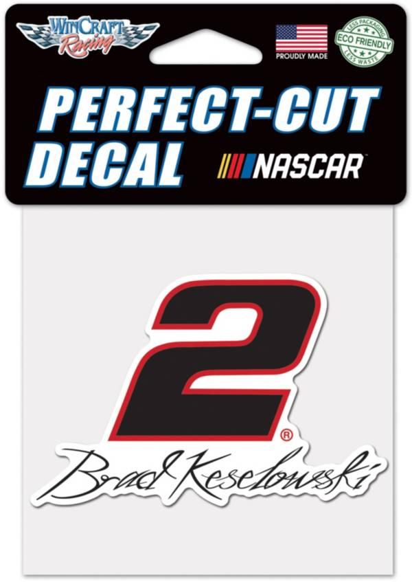 "WinCraft Brad Keselowski #2 4"" x 4"" Decal product image"