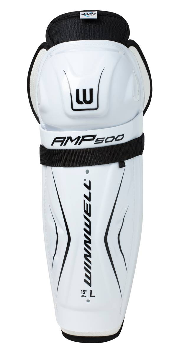 Winnwell Senior Amp 500 Ice Hockey Shin Guards product image