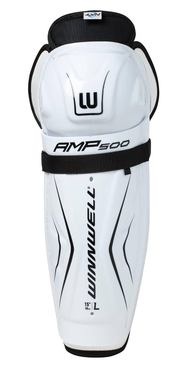 Winnwell Youth Amp 500 Ice Hockey Shin Guards product image