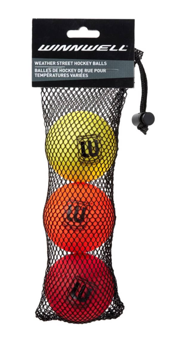 Winnwell Weather 65mm Street Hockey Balls - 3 Pack product image