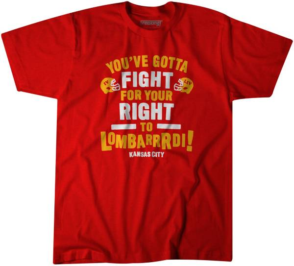BreakingT Men's 'You've Gotta Fight For Your Right To Lombarrrdi!' Red T-Shirt product image