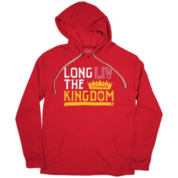 BreakingT Men's 'Long LIV The Kingdom' Red Pullover Sweatshirt product image