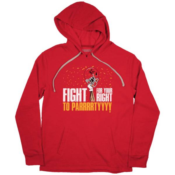 BreakingT Men's Fight For Your Right To Parrrrtyyyy Red Pullover Sweatshirt product image