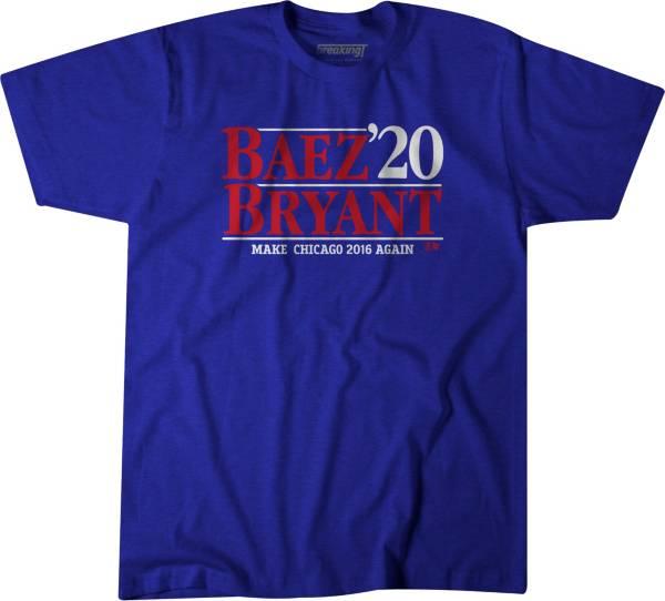 BreakingT Men's 'Baez & Bryant 2020' Blue T-Shirt product image