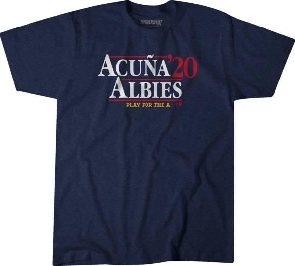BreakingT Men's 'Acuna & Albies 2020' Navy T-Shirt product image