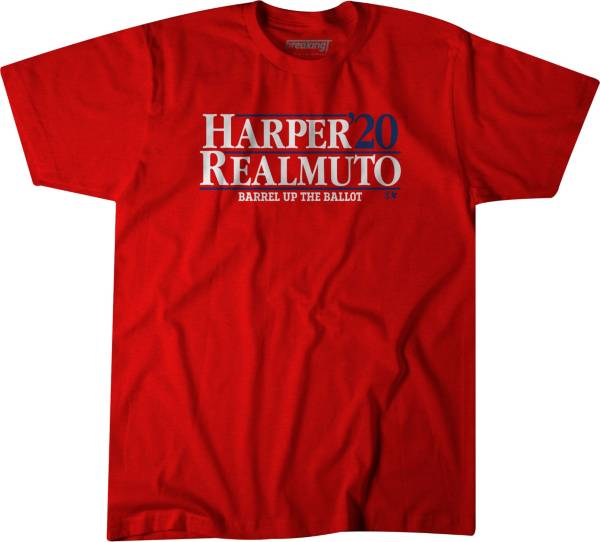 BreakingT Men's 'Harper & Realmuto 2020' Red T-Shirt product image