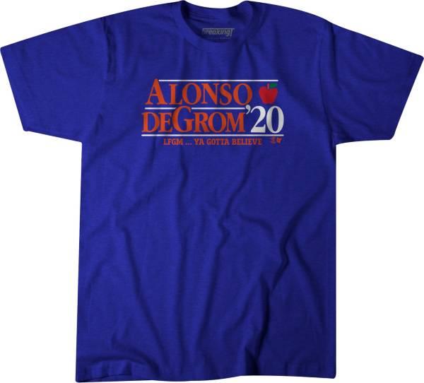 BreakingT Men's 'Alonso & DeGrom 2020' Blue T-Shirt product image