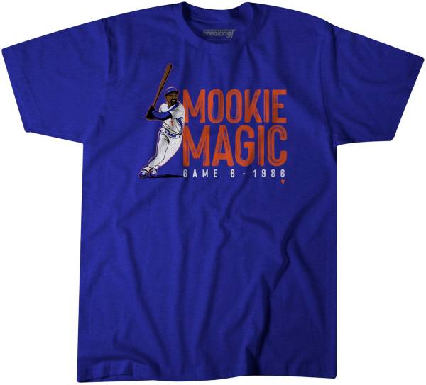 BreakingT Men's 'Mookie Magic' Mookie Wilson Blue T-Shirt product image
