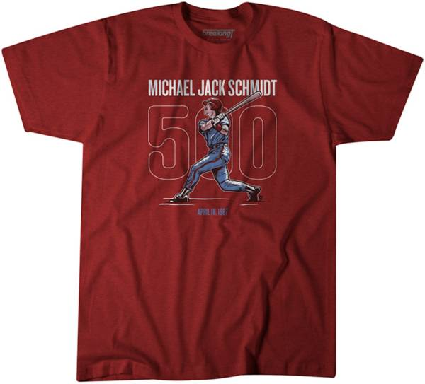 BreakingT Men's '500' Mike Schmidt Red T-Shirt product image