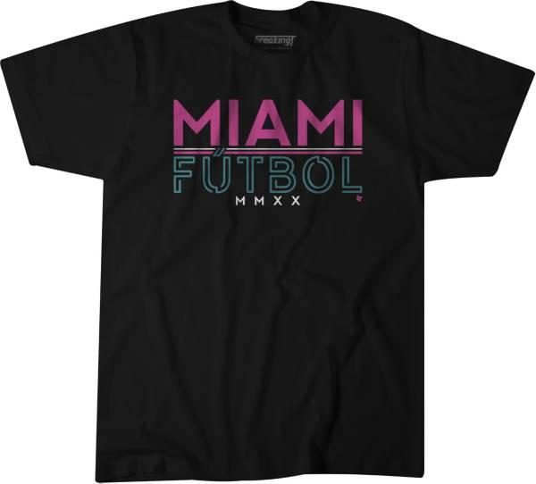 BreakingT Men's Miami Futbol Black T-Shirt product image