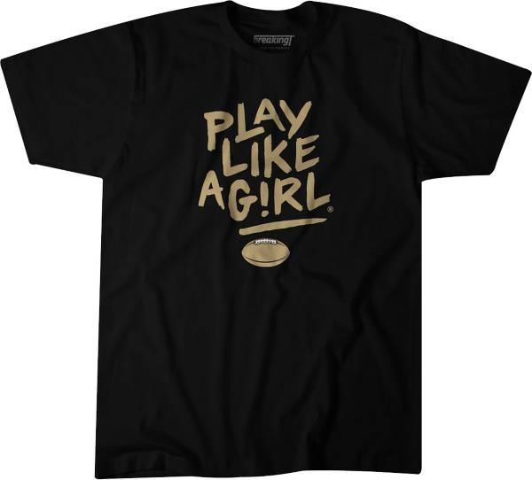 BreakingT Men's 'Play Like A Girl' Black T-Shirt product image