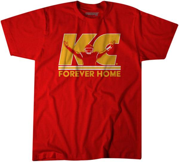 """BreakingT Men's """"KC Forever Home"""" Red T-Shirt product image"""