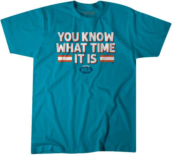 BreakingT Men's You Know What Time It Is Aqua T-Shirt product image