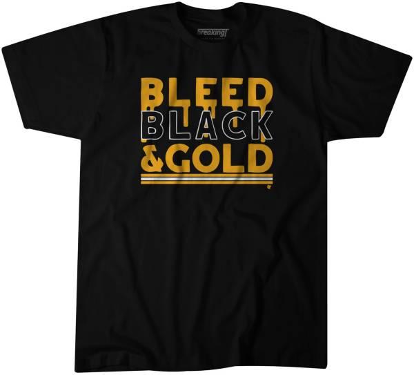 "BreakingT Men's ""Bleed Black and Gold"" Black T-Shirt product image"