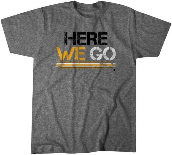 BreakingT Men's 'Here We Go' Grey T-Shirt product image