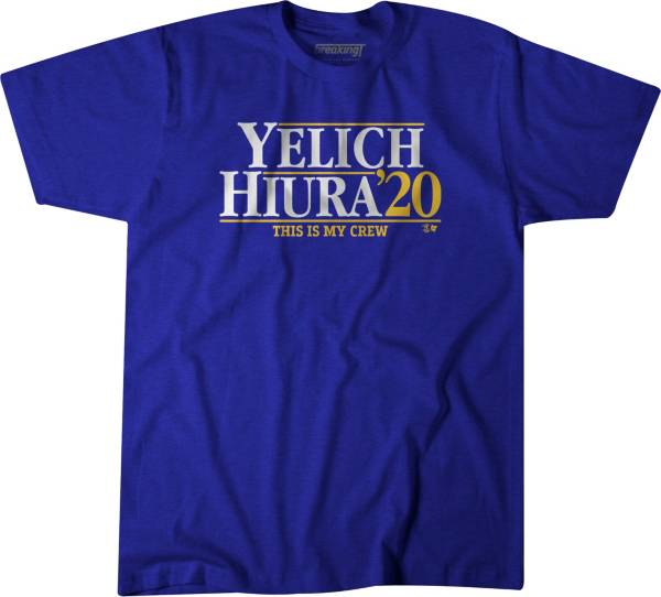 BreakingT Men's 'Yelich & Hiura 2020' Blue T-Shirt product image