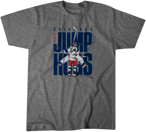BreakingT Youth Columbus Jump Hugs Heather Grey T-Shirt product image