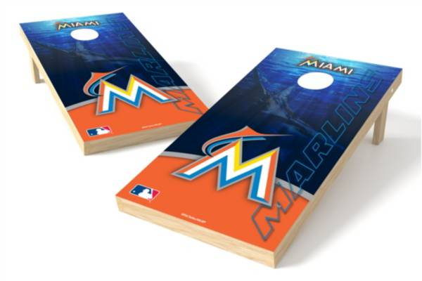 Wild Sports Miami Marlins 2' x 4' Cornhole Board Set product image