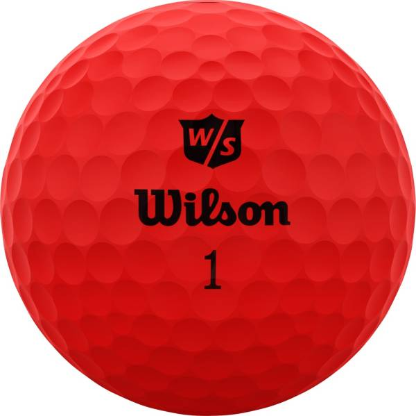 Wilson Staff 2020 Duo Soft Optix Red Personalized Golf Balls product image