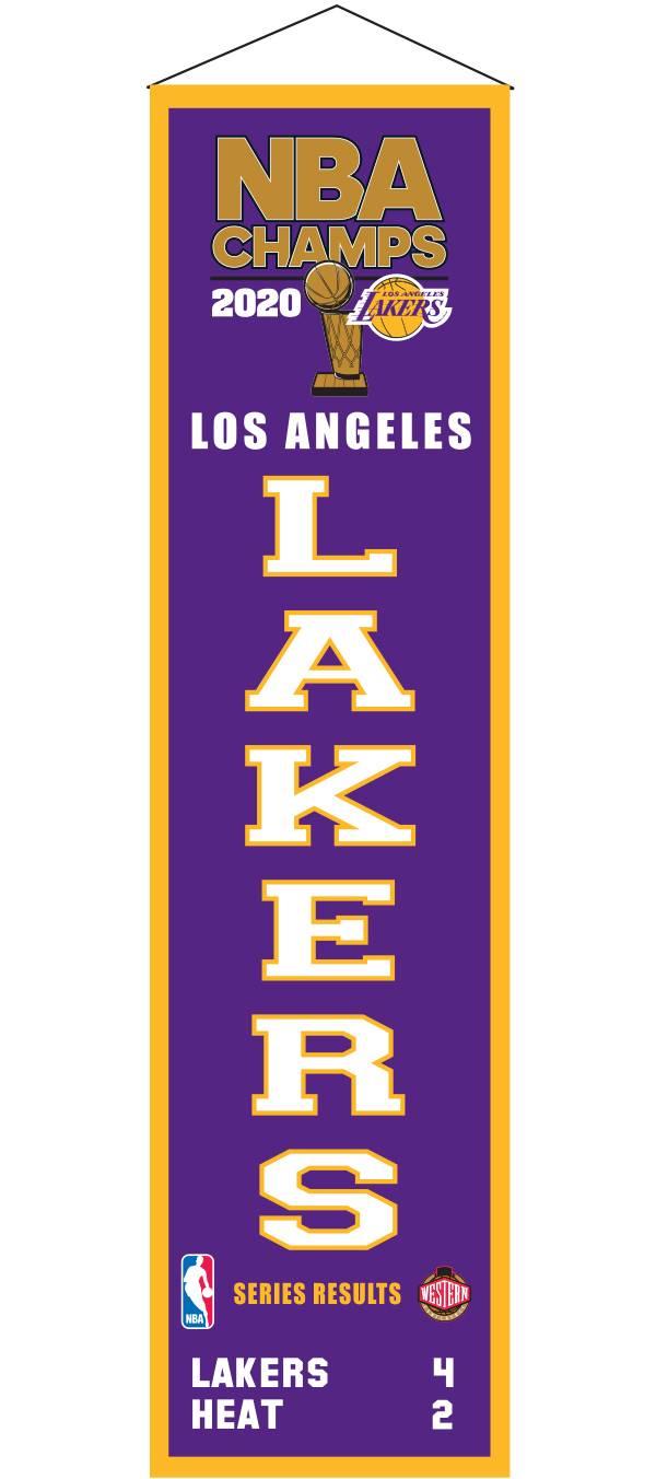 Winning Streak 2020 NBA Champions Los Angeles Lakers Heritage Banner product image