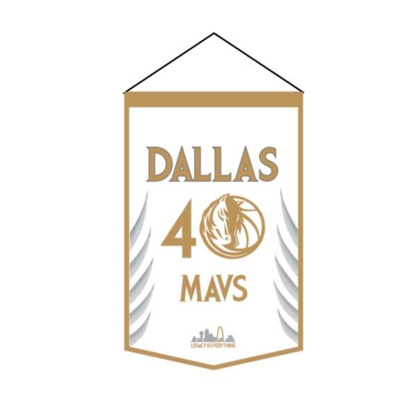 Winning Streak Sports 2020-21 City Edition Dallas Mavericks Premium Banner product image