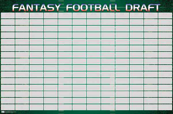 NFL 2020 Fantasy Football Draft Poster product image