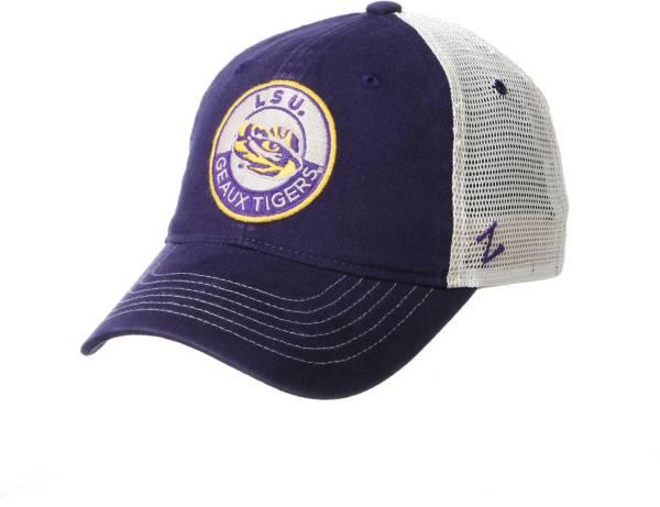 Zephyr Men's LSU Tigers Purple Lancaster Trucker Adjustable Hat product image